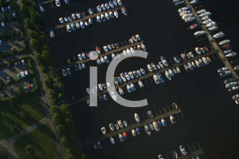 Royalty Free Photo of an Aerial View of a Dock
