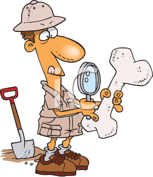 Royalty Free Clipart Image of an Archaeologist