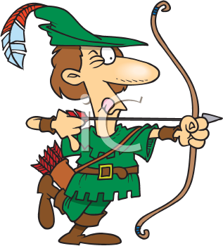 Royalty Free Clipart Image of an Archer
