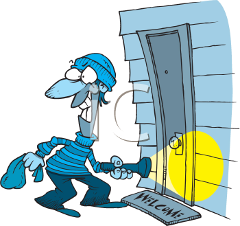 Royalty Free Clipart Image of a Burglar