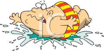 Royalty Free Clipart Image of a Man Doing a Belly Flop