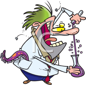 Royalty Free Clipart Image of a Mad Scientist