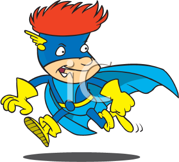 Royalty Free Clipart Image of a Super Kid