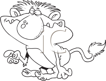 Royalty Free Clipart Image of a Troll