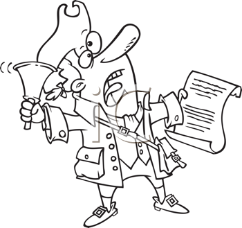 Royalty Free Clipart Image of a Town Crier
