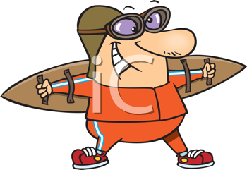Royalty Free Clipart Image of a Man With Wings