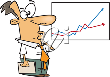 Royalty Free Clipart Image of an Economist