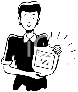 Royalty Free Clipart Image of an Award