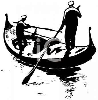Royalty Free Clipart Image of a Gondola