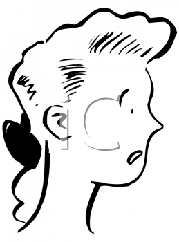 Royalty Free Clipart Image of a Girl Looking Disappointed