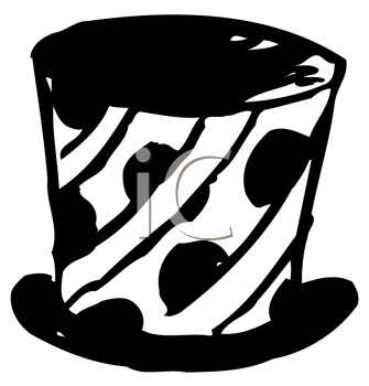 Royalty Free Clipart Image of a Magic Hat