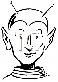 Royalty Free Clipart Image of an Alien
