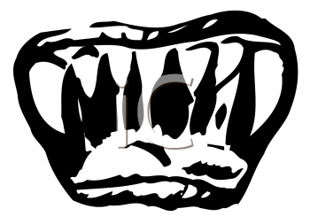 Royalty Free Clipart Image of a Frightening Mouth With Sharp Teeth
