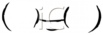 Royalty Free Clipart Image of a Mouth Between Chubby Cheeks