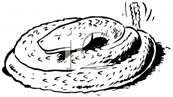 Royalty Free Clipart Image of a Rattlesnake