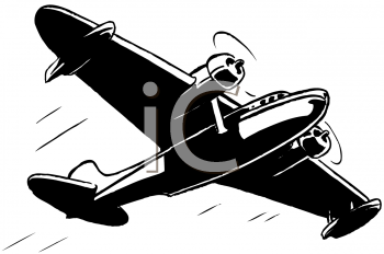 Royalty Free Clipart Image of a Seaplane