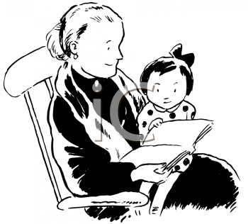 Royalty Free Clipart Image of Storytime