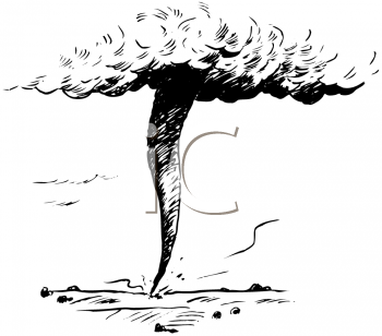 Royalty Free Clipart Image of a Twister