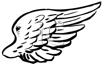 Royalty Free Clipart Image of a Wing