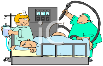 Royalty Free Clipart Image of a Colonoscopy