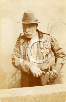Royalty Free Photo of a Veteran Dressed in Military Uniform