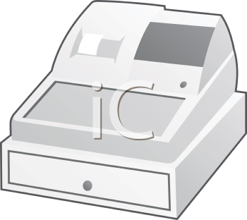 Royalty Free Clipart Image of a Cash Register
