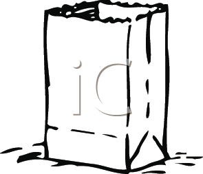 Royalty Free Clipart Image of a Paper Bag