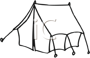 Royalty Free Clipart Image of a Tent