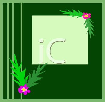 Royalty Free Clipart Image of a Frond Frame