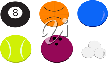 Royalty Free Clipart Image of Balls