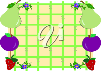 Royalty Free Clipart Image of a Fruit Border
