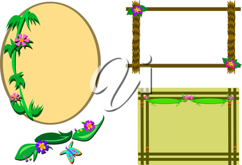 Royalty Free Clipart Image of  Tropical-Themed Frames