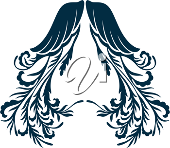 Royalty Free Clipart Image of an Elaborate Wing