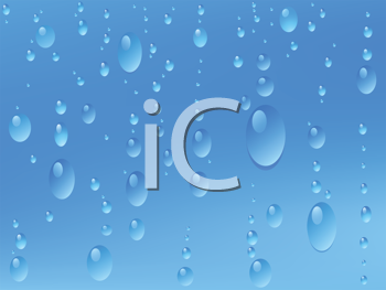 Royalty Free Clipart Image of Water Droplets