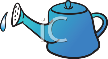 Royalty Free Clipart Image of a Watering Pot