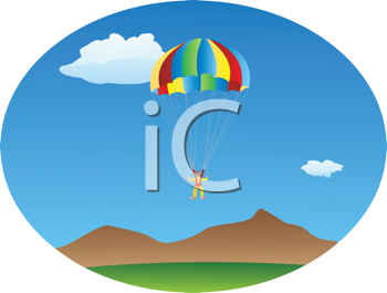 Royalty Free Clipart Image of a Parachute