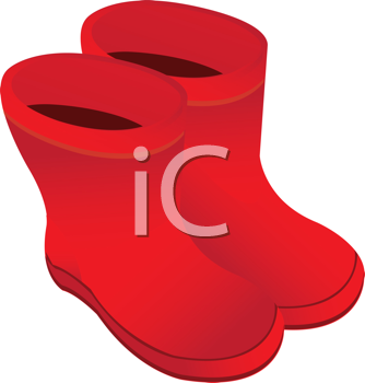 Royalty Free Clipart Image of Galoshes