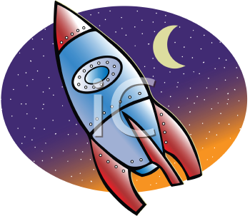 Royalty Free Clipart Image of a Rocket
