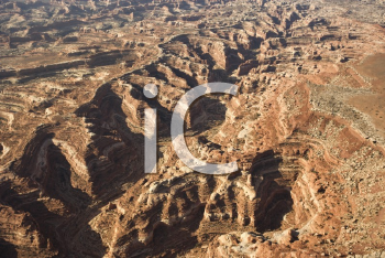 Royalty Free Photo of an Aerial View of Gorge in Canyonlands National park, Utah