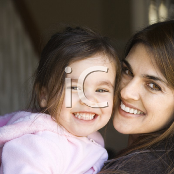 Royalty Free Photo of a Smiling Mother and Daughter