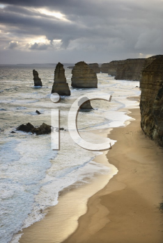 Royalty Free Photo of Twelve Apostles Rock Formation on Coastline as Seen from the Great Ocean Road, Australia