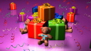 Royalty Free HD Video Clip of Teddy Bears with Presents