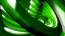 Royalty Free Video of a Green Rotating Spring
