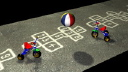 Royalty Free Video of Children's Toys and Games and a Bouncing Ball