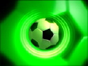 Royalty Free Video of a Soccer Ball on Green