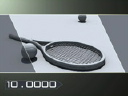 Royalty Free Video of Tennis Rackets and Balls