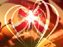 Royalty Free Video of a Heart and a Bow