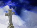 Royalty Free Video of a Cross and the Sky
