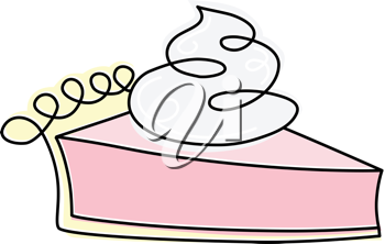 Royalty Free Clipart Image of a Piece of Pie