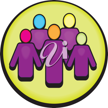 Royalty Free Clipart Image of a Group of People in a Circle